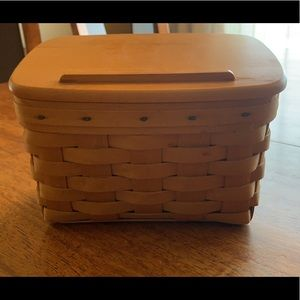 Longaberger Recipe Card Box with Blank Cards